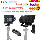TYST K3 Pro Teleprompter Portable Video Live Streaming for phone Tablet DSLR Cam