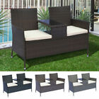 Yatendra Rattan Love Seat Garden Furniture Chair Coffee Table Rest Outdoor