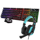 Gaming Gamer Wired Keyboard&Mouse W/LED Backlit,Gaming Headset For PC Computer