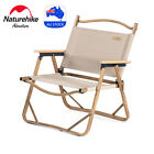 Naturehike Folding Chair Camping Garden Furniture Wood Grain Aluminum Portable