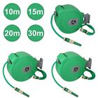Auto Retractable Wall Mounted Water Hose Reel Watering Spray Tool 10 15 20 & 30M