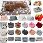 Pet Dog Cat Puppy Mattress Sleeping Bed Mat Kennel Blanket Soft Comfort Warm UK