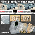 Salt Weathering Airbrush Stencils Tool For 1/35 1/48 1/72 Fighter Model Upgrade