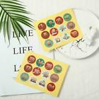 1-24 Number Stickers Christmas Sealing Adhesive Label Xmas Stickers Us P5l5