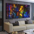 Colorful Forest Trees Canvas Wall Art Prints Canvas Painting Home Decor Posters
