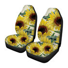 2Pcs Universal Sun Flower Printed Car Seat Covers Front Row Set Car Protector