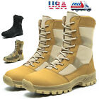 Mens Military Tactical Combat Boots Army Hiking Lightweight Motorcycl Work Boots