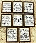 Funny Bathroom Wall Art Farmhouse Decor Quotes Signs Picture Frame Gag Gift