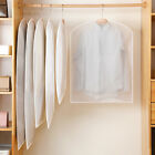 5Pcs S/M/L Dust Cover Hanging Garment Bag Clear Bags Dust-Proof with Full Zipper
