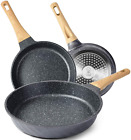 Yiifeeo Nonstick Frying Pan Set, Granite Skillet Set With 100% Pfoa Free, Omelet