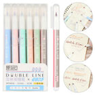 DIY Two-Color Hand Account Contour Writing Tools Double Line Pen Stationery