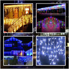Icicle Hanging Snowing Fairy Lights Curtain Wedding Party Home Garden Decor Lamp
