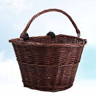 1 Pc Basket Wicker with Handle Rattan Front Bike Basket for Electric Car