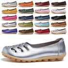 Women's Casual Nonslip Leather Shoes Moccasins Comfort Driving Flat Boat Loafers