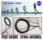Fuji SVOG Aluminum Oxide Double Foot Individual Rod Guides - Pick Your Size