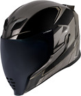 Icon Airflite Ultrabolt Full Face Motorcycle Helmet BLACK GREY SILVER