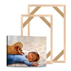 Natural Wood Frame For Canvas Painting Wall Picture Wrapped DIY Stretcher Bar 4