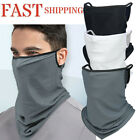 Neck Gaiter Face Mask with Ear Hangers loops Non-Slip Breathable Balaclava UV