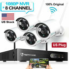 Outdoor HD 1080P CCTV IP Camera Wireless Wifi System 8CH NVR Home Security Kit