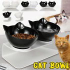 Cat Double Bowls with Raised Stand Pet Food Water Bowl Cats Dog Feede