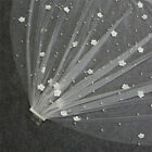 Beautiful 3D Flowers Pearl Beaded Soft Tulle Wedding Veil with Comb Bridal Veil