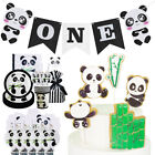 Cartoon Panda Theme Disposable Tableware Balloon Set Party Decoration Supplies E