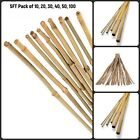 5FT Thick Quality Heavy Duty Bamboo Canes Strong Garden Plant Support Pole UK