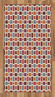 Colorblock Area Rug Flat Woven Accent Rug Home Decoration 2 Sizes