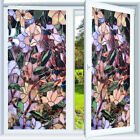 Flower Print Window Film Sticker Static Privacy Frosted Stained Decor Glass Home