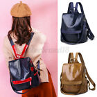 Women Girls Leather Backpack Backbag School Handbags Travel Book Bag Gift