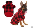 Plaid Dog Hoodie Pet Clothes Sweaters with Hat XL