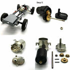 Full Metal Gearbox Gear With 370 Brushed Motor For Wpl D12 Rc Car Upgrade Parts