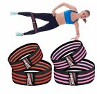 2Pc Resistance Loop Band Gym Yoga Fitness Hip Glute Leg Exercise Training Fabric