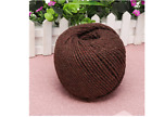 4mm 110m NATURAL COTTON TWISTED CORD Rope Macrame Linen Jute DIY Hand Craft