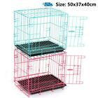 Folding Dog Cage Removable Tray Pet Puppy Crate Carrier Training Kennel Medium