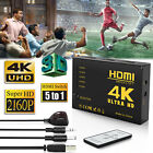 4K Cable Splitter HDMI Switch Box Hub Adapter 3D 5 Port HD 2160P for HDTV Xbox