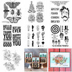 Flower Cactus Sentiments Silicone/Clear Stamps Diy Scrapbooking Handmade Crafts