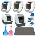 Cat Litter Trays Catit Hooded Covered Toilet Boxes Pan Scoops & Accessories