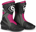 Cortech Women Apex RR Air Perforated Leather Motorcycle Boots BLACK GREY PINK