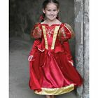 Red Medieval Queen Child Fancy Dress Costume 3-11 yrs