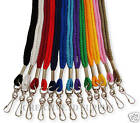 Lot 5 NECK STRAP LANYARD ROUND + CLEAR ID BADGE HOLDER