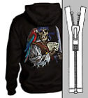 Pirate Men Zip Up Hoodie Poker Cards Sword caribbean
