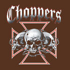 Choppers skull iron cross Hoodie tattoo motorcycle