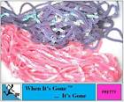 2M/2 METRE x 6mm PINK/LILAC SEQUIN TRIM TRIMMING STRING