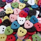20/50/200pcs Bulk Plastic Heart Button Lots 11mm 8 Colors Sewing Craft Cards DIY