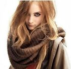 Unisex cotton acrylic knit large winter neck wrap scarf