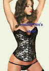 N573 Lace Covering Bustier Corset Goth Shaper Lingerie