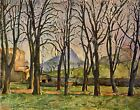 Cezanne Chestnut-trees - Stretched Giclee Canvas Art