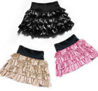 New Womens Ladies Cute Satin Mini Skirt Tiered Skirts XS ~ 3XL #GF0613