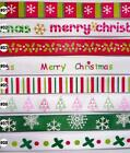 "3/8"" 9mm mixed color christmas satin RIBBON 5 yards"